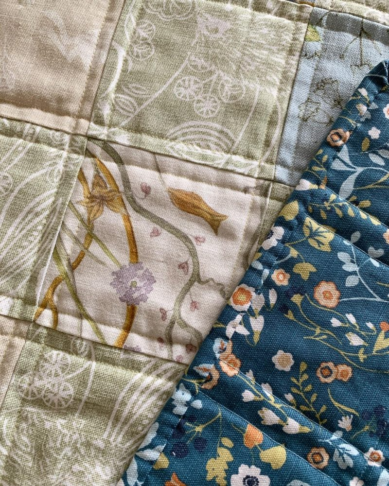 patchwork quilt detail